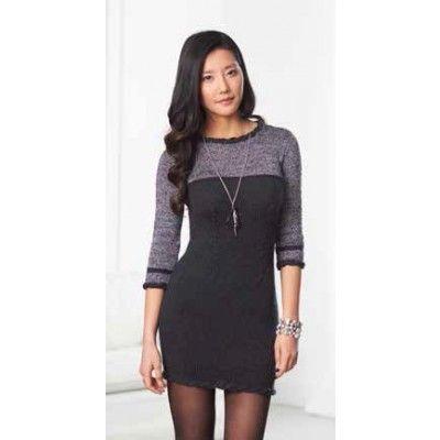 Patons Little Black Dress Free Knitting Pattern Dress Knitting