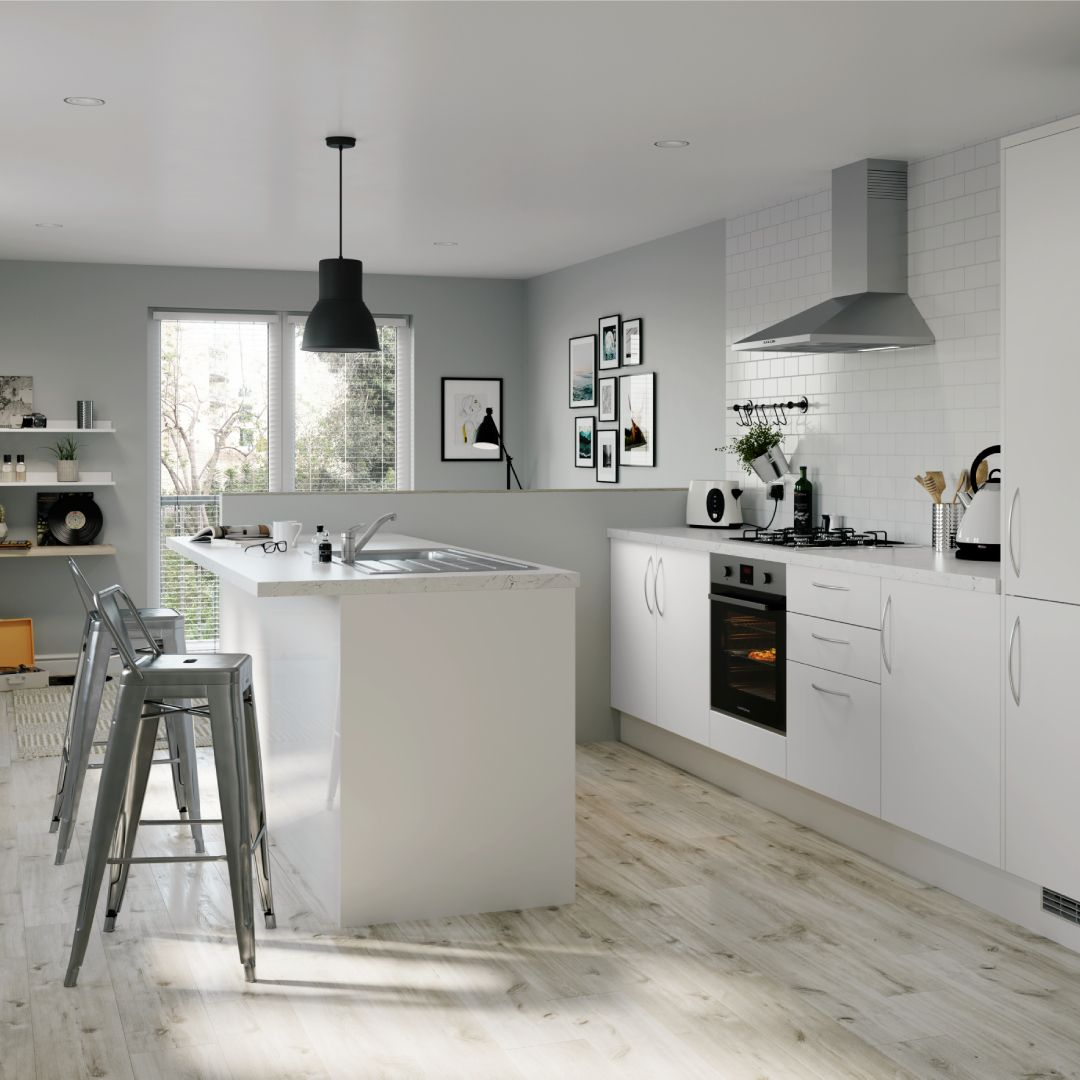 Make a kitchen feel more spacious with these glossy ...