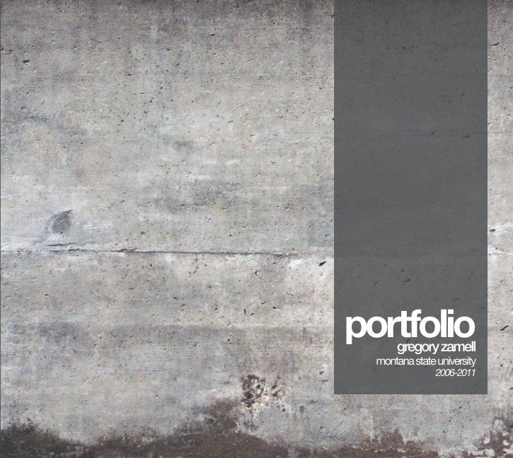 M.Arch Portfolio 2012 by Gregory Zamell | Blurb Books