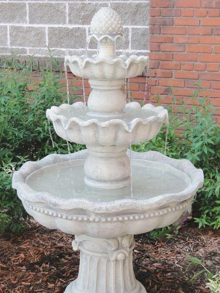 3 Tier Pineapple Garden Outdoor Water Fountain White Waterfall Water Feature Water Fountains Outdoor Outdoor Gardens Garden Fountains For Sale
