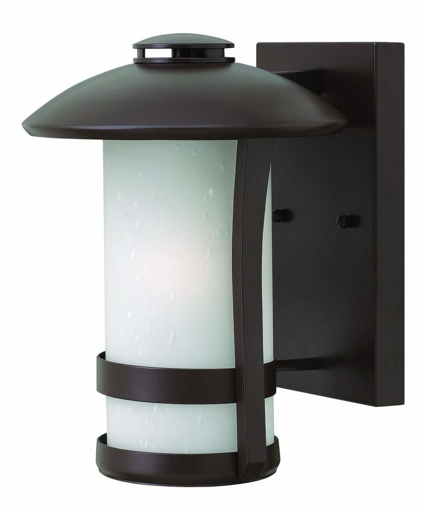 One light anchor bronze etched seedy glass wall lantern ar