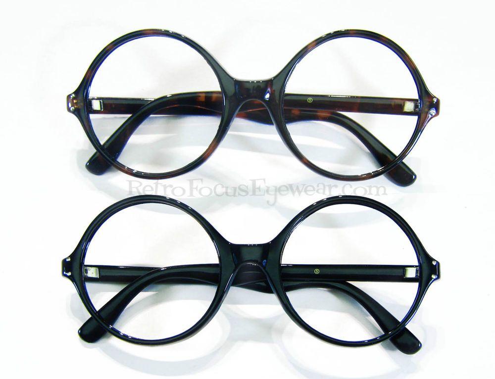 Oversized Large Round Eyeglass Frames Wide Frame Eyeglasses Tortoise ...