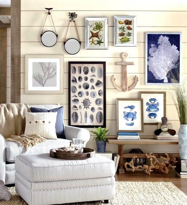 Coastal Decor & Interior Design Guide | Coastal wall decor ... on Creative Living Room Wall Decor Ideas  id=94899