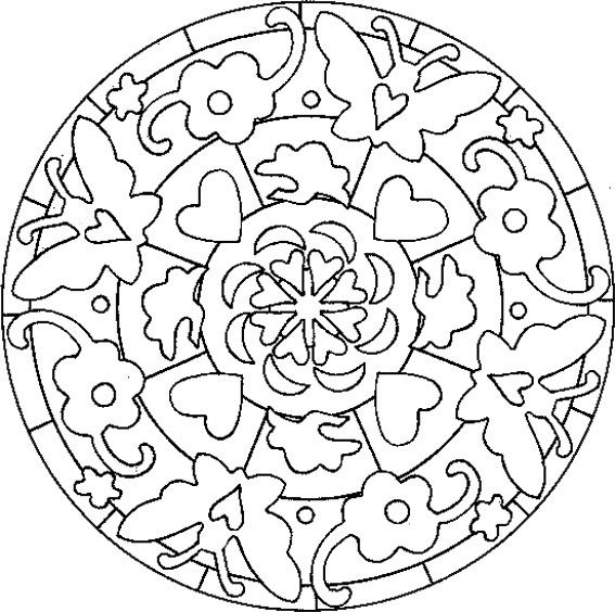mandalas faciles Mandalas Vitrais Colorir Pinterest Mandalas