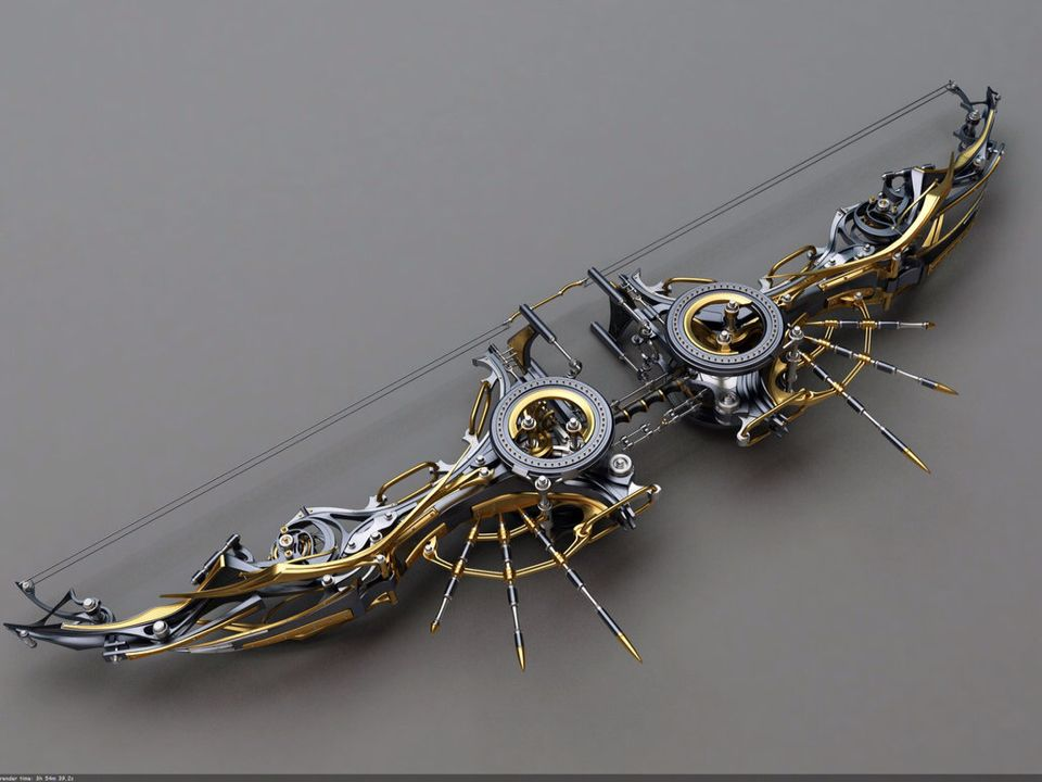 Clockwork Bow | Things That Could Be Magic | Steampunk weapons