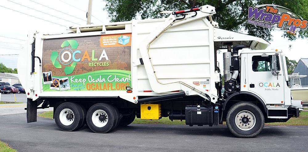 City of Ocala Sanitation Truck | The WrapPros @ BB Graphics | bbgraphics.com | #bbgraphics #3MCertified #thewrappros