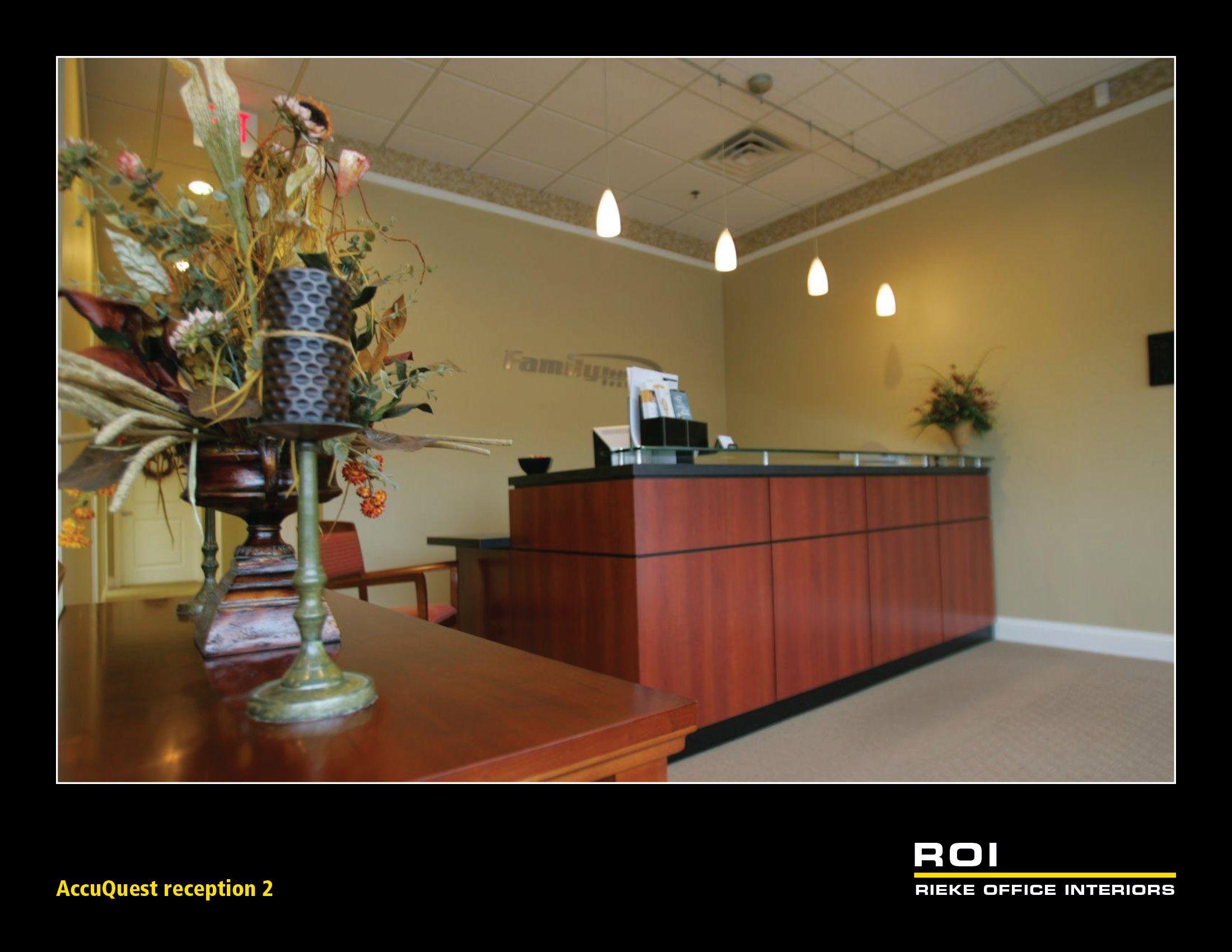 Accuquest reception desk office interiors home decor decor