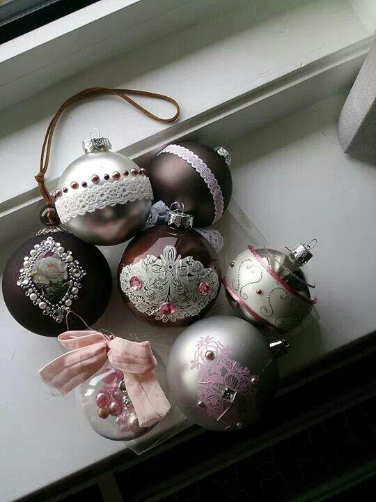 Oude Kerstballen Versieren Knutselen Rond Kerstmis Kerstballen Kerst Kunst
