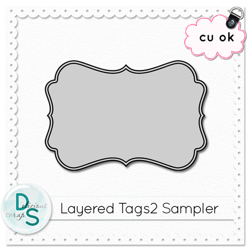 Delicious Scraps: New CU Layered Tag Templates 2 in the Shop and ...