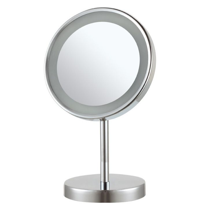 Round Free Standing 3x Led Makeup Mirror Makeup Mirror With