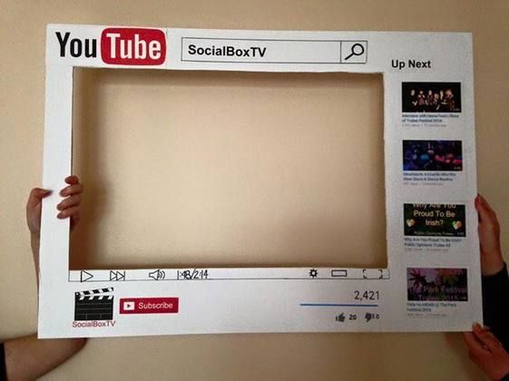 Youtube Party Photo Booth Prop Youtube Party Birthday Party Images Emoji Party