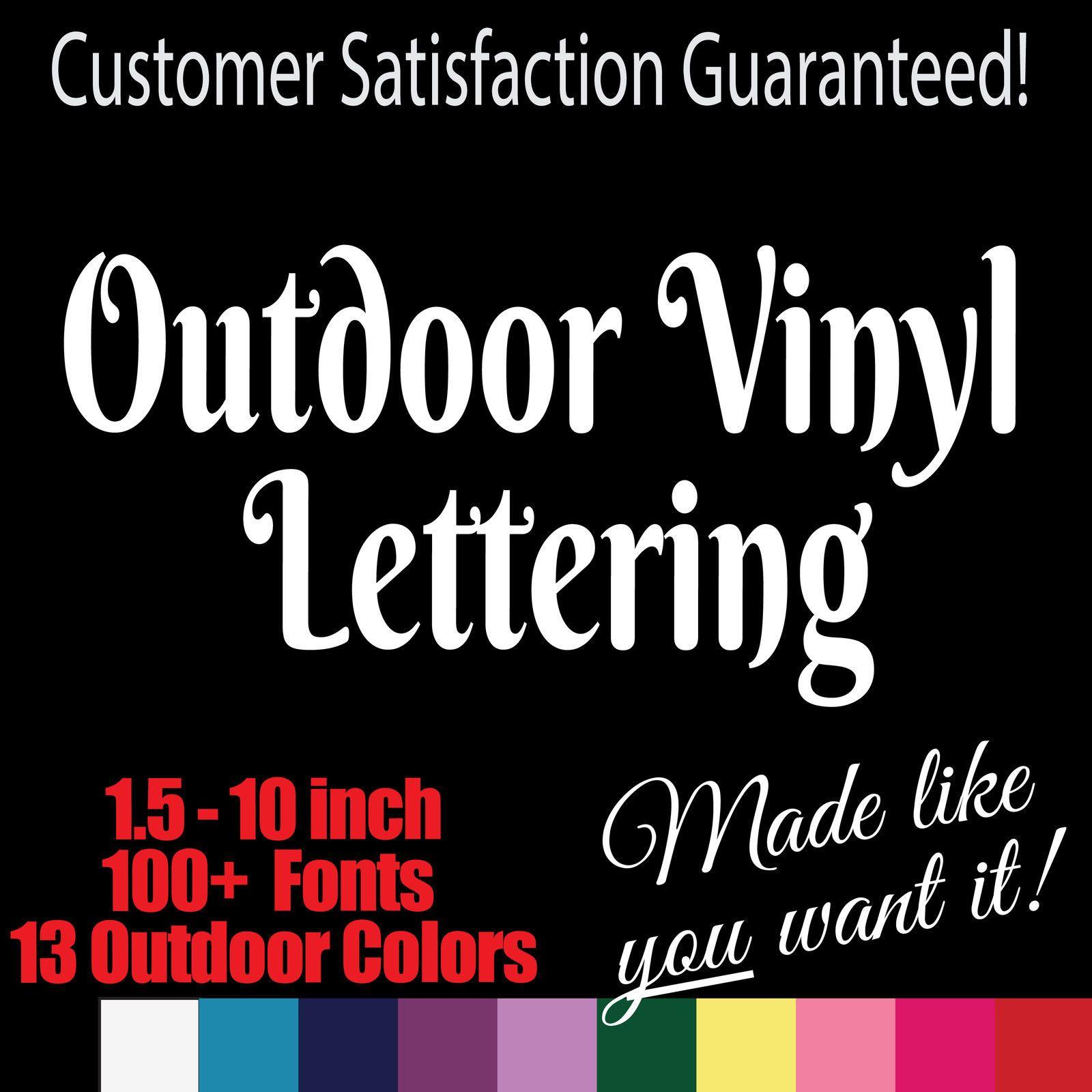 74756dc4d1 Custom Outdoor Vinyl Lettering. Window Truck Jeep Decal Sticker ...