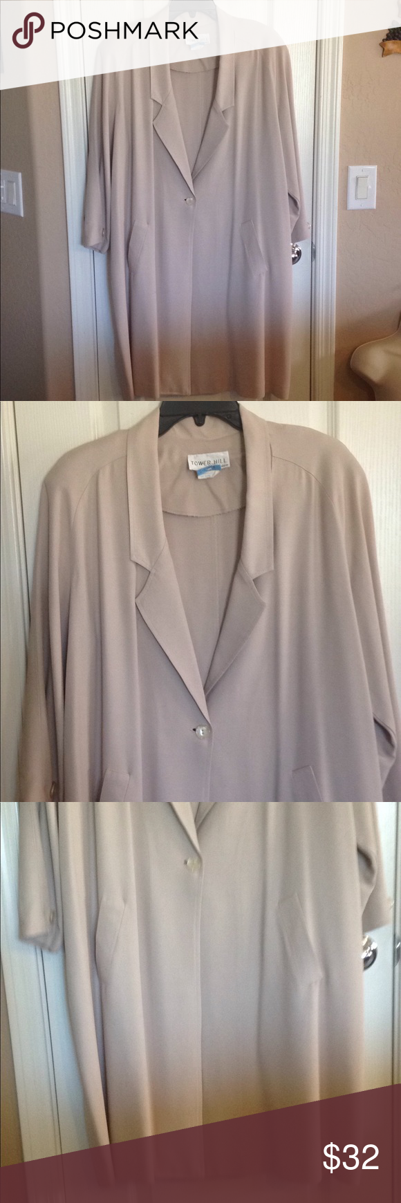 c8cdc8a30 Tower Hill Collection Long Beige Jacket – size 18 Tower Hill ...