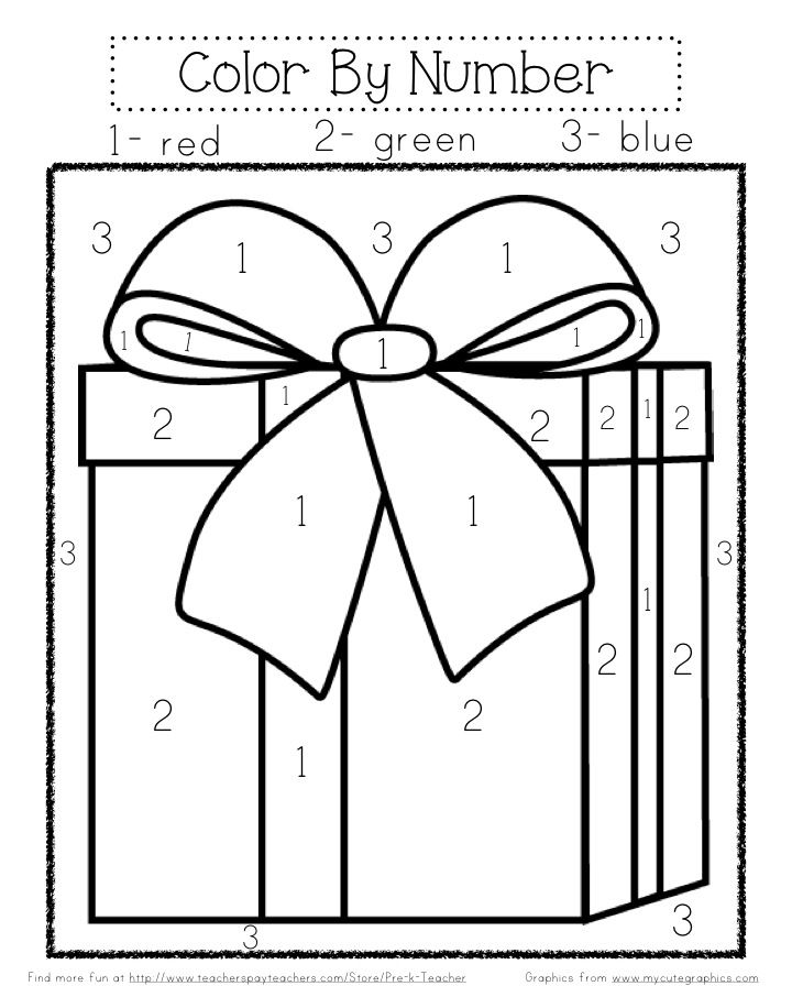 christmas color by number work color sheets christmas color by number christmas worksheets. Black Bedroom Furniture Sets. Home Design Ideas