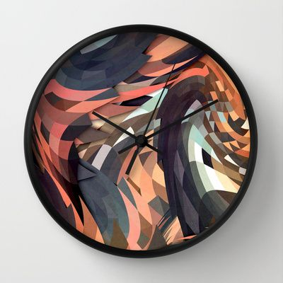 Menomena Wall Clock by Danny Ivan - $30.00