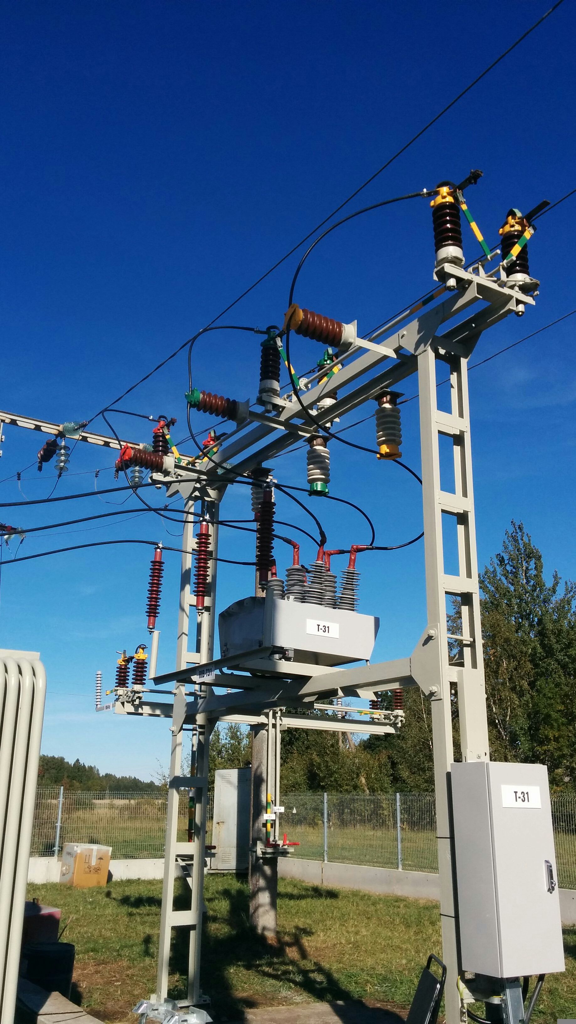 Osm38 In Substation Lithuania Transmission Tower Electronic Engineering Power Plant