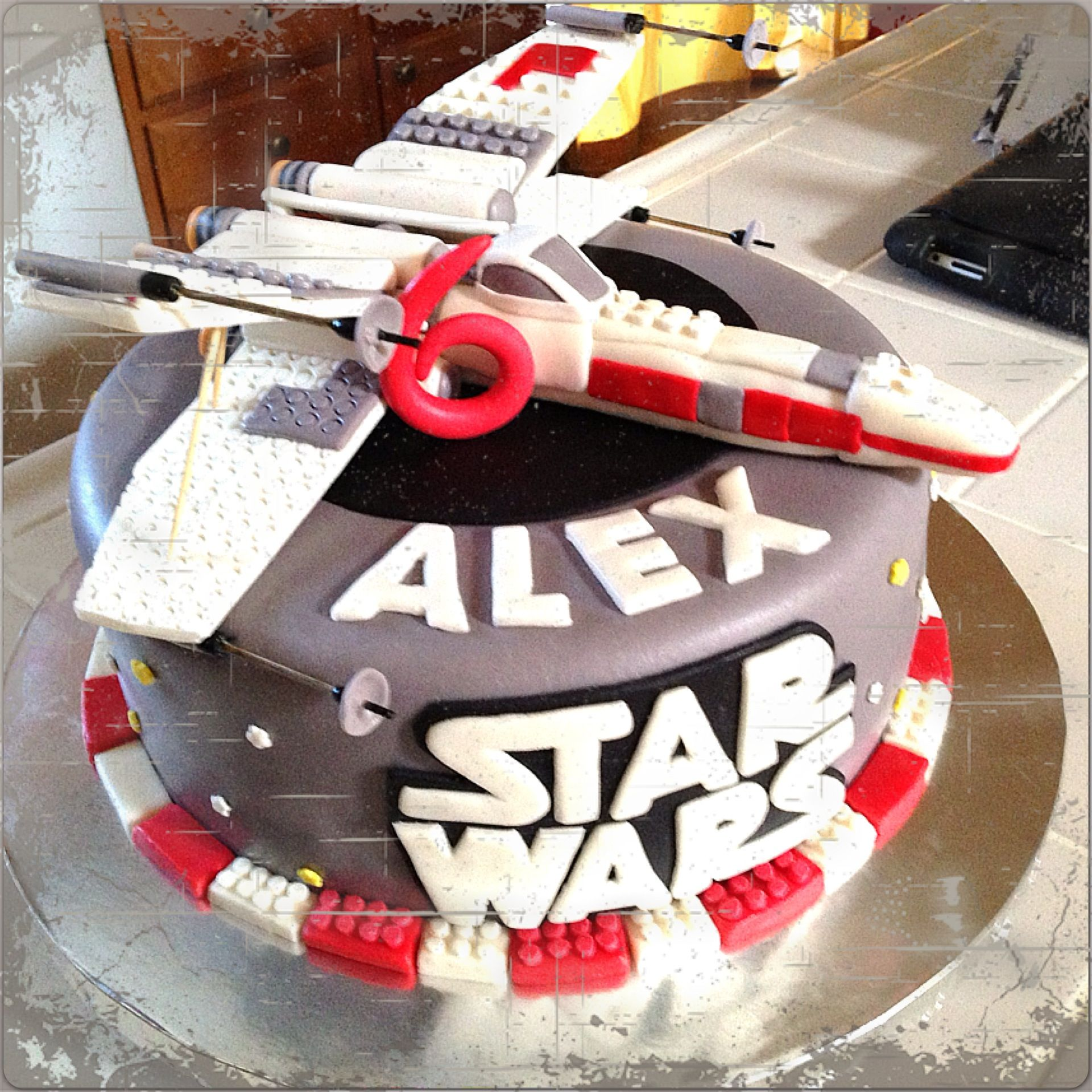 Star Wars Lego X Wing Star Fighter Birthday Cake Foodie