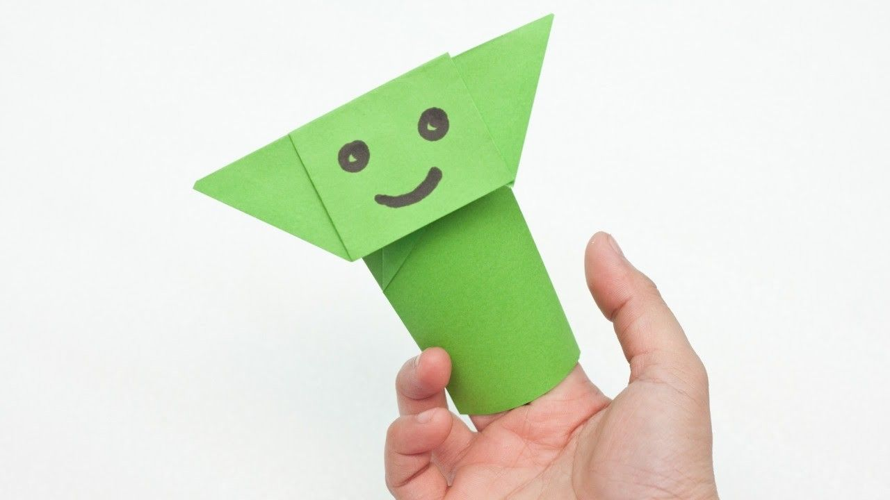 Create an Easy Yoda Finger Puppet Origami - DIY  - Guidecentral