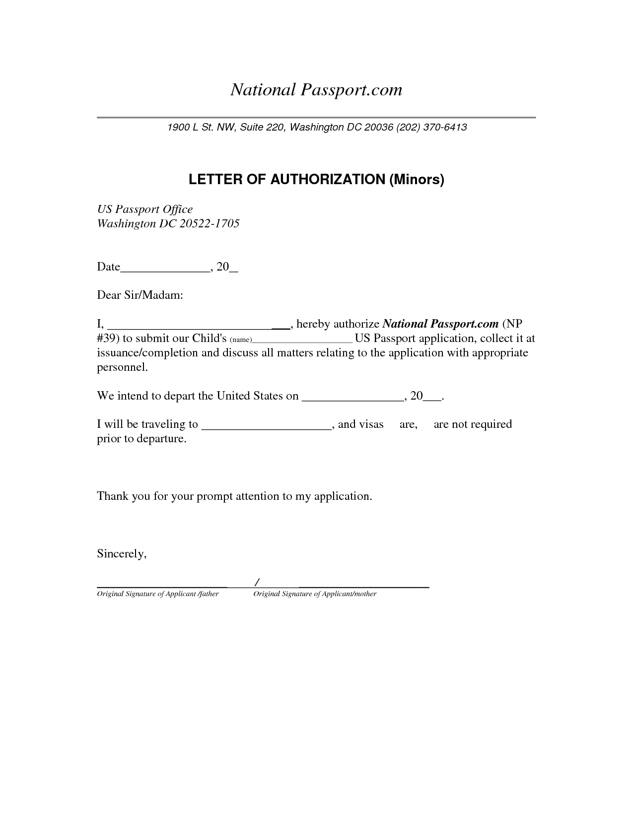 consent letter sample and child care authorization the nigerian ...