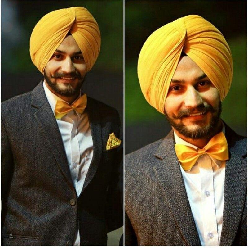 #Sardar #yellowblack #awesome #singh #moustaches #beard