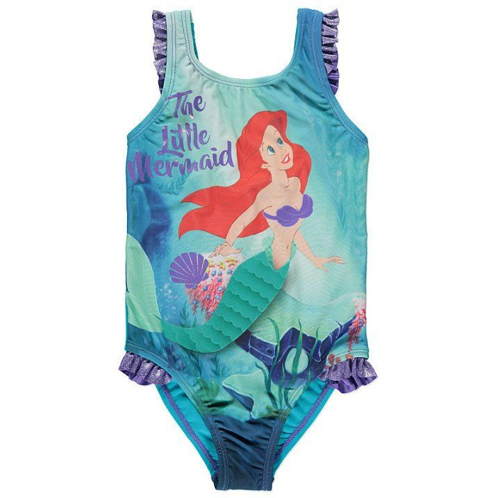 153d09f4c5c10 Girls Disney Little Mermaid Ariel Swimsuit | Disney | Ariel swimsuit ...