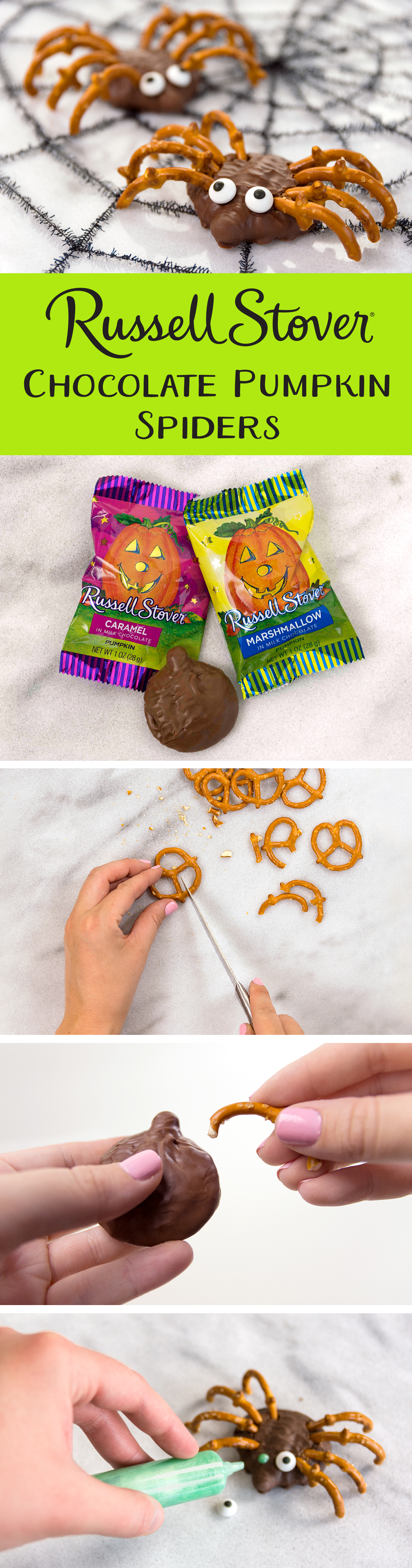 Use your favorite Russell Stover chocolate pumpkin singles as the ...