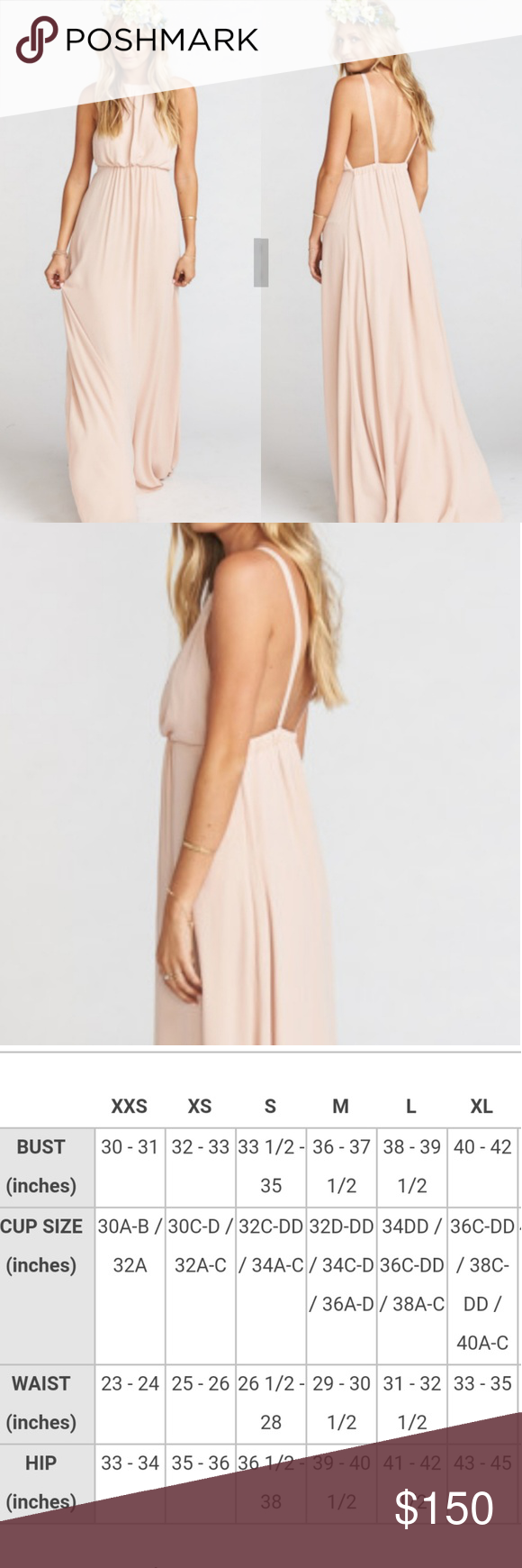 SMYM Amanda Open Back Blouson Gown New with Retail tag