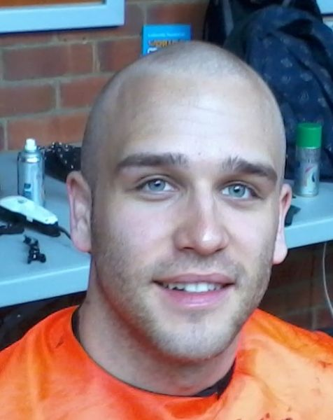 Shaved head and stubble