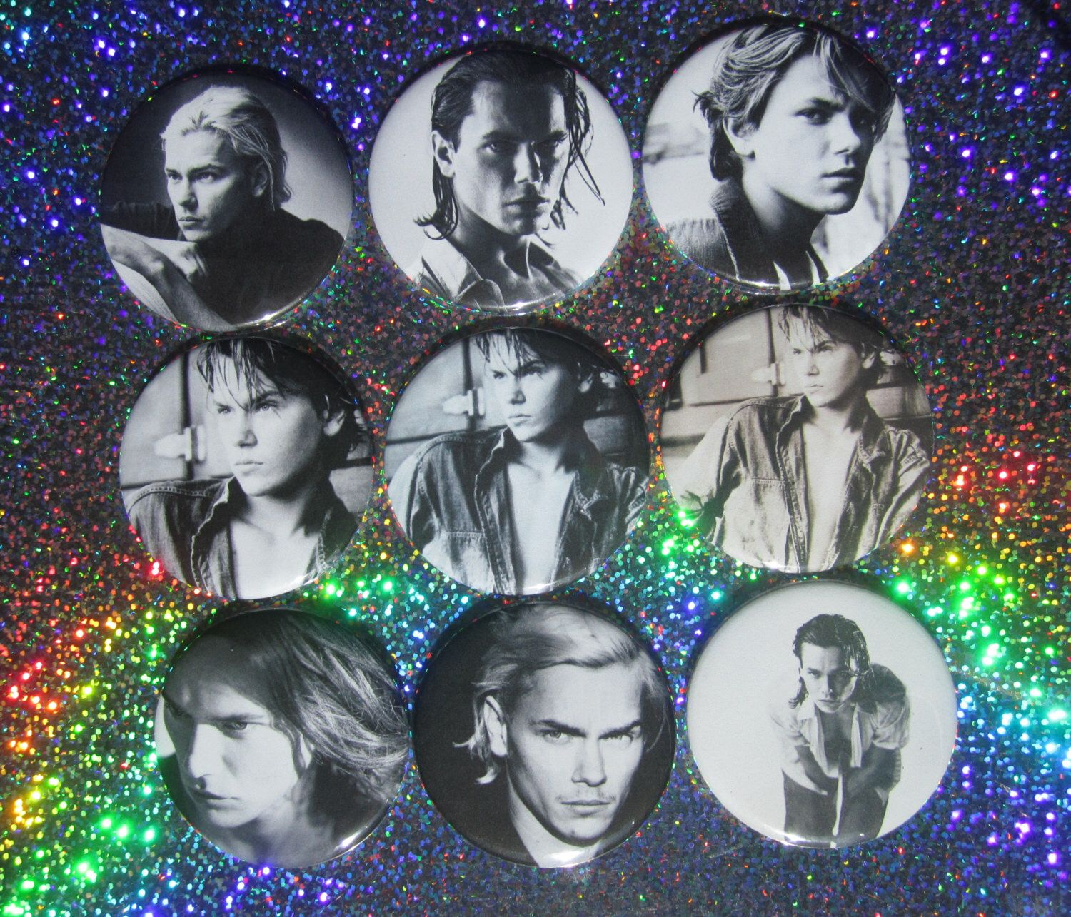 "River Phoenix 2-1/4"" Pocket Mirrors by GalaxyGirlPins on Etsy https://www.etsy.com/ca/listing/247747264/river-phoenix-2-14-pocket-mirrors"