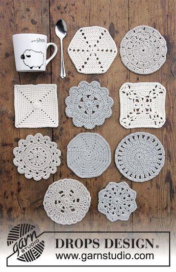 Photo of Bright Side Coasters / DROPS Extra 0-1403 – Kostenlose Häkelanleitungen von DROPS Design