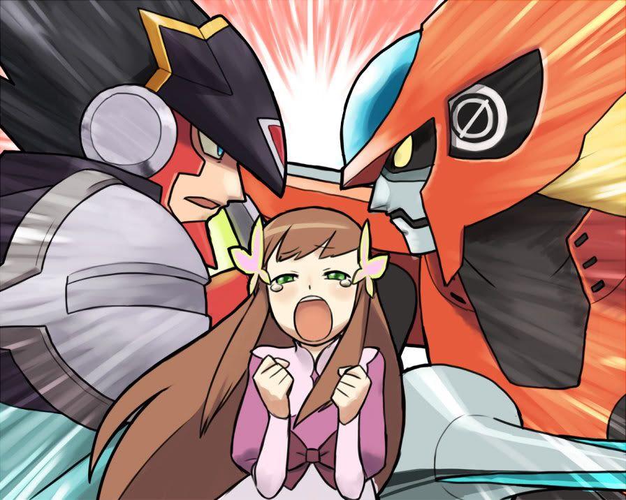 Megaman NT warrior - Colonel Exe vs Zero Exe and Iris Exe