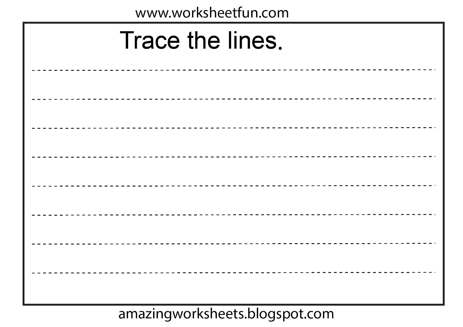 Worksheets For Preschoolers Line Tracing Worksheet