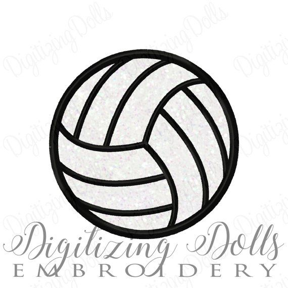 Volleyball Applique Machine Embroidery Design 2x2 3x3 4x4 5x5 Volley Ball Vollyball Volly Instant Do Products Machine Embroidery Designs Machine Embroidery Embroidery Designs