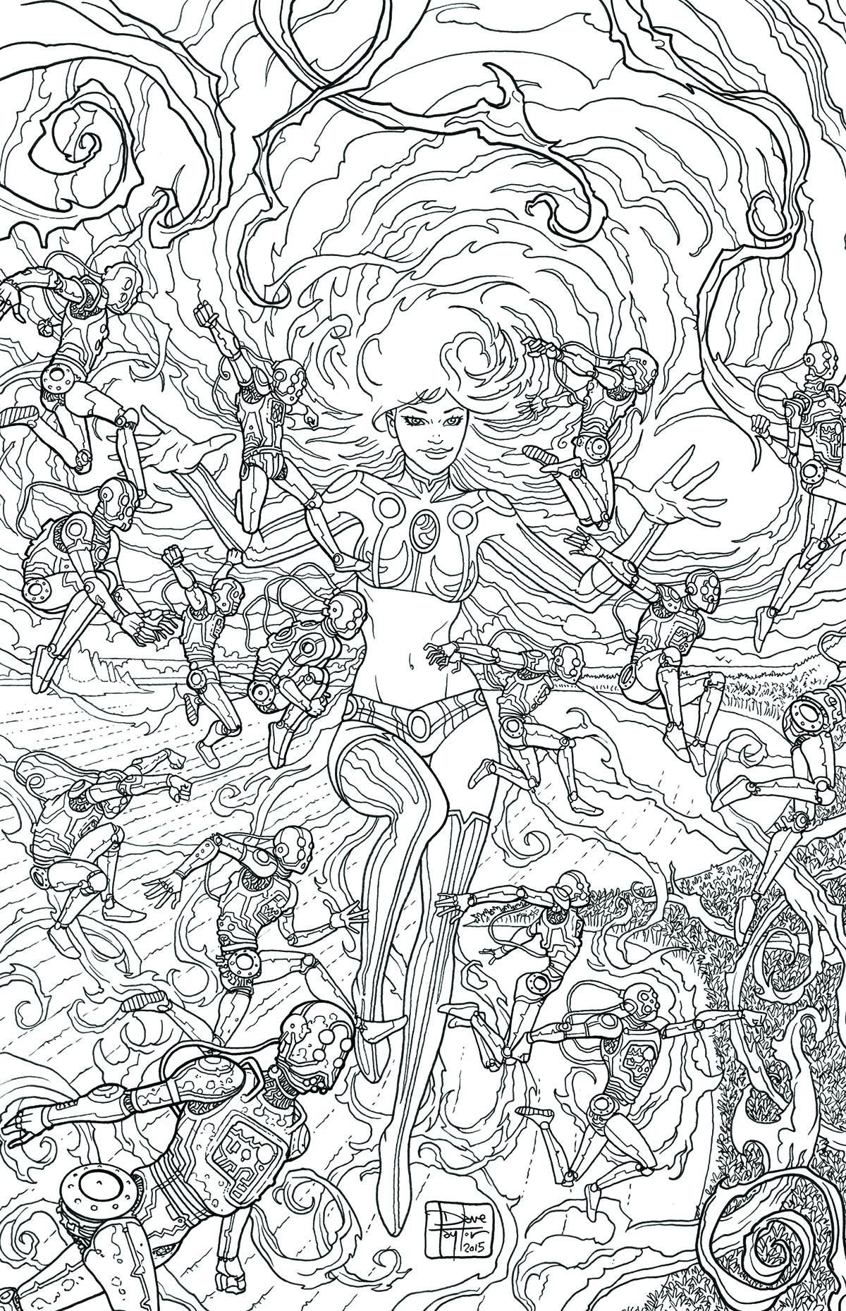 Shop for Starfire 8 Adult Coloring Book Variant Cover from DC