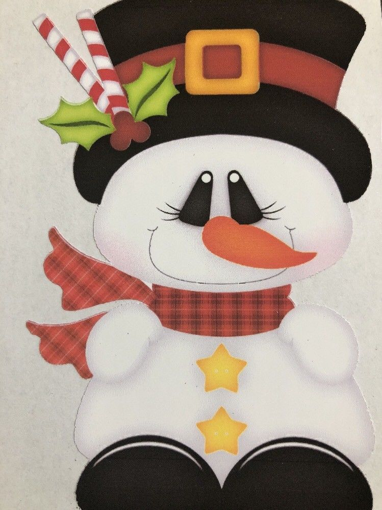 Vinyl Snowman Decal For Tumblers Cups Sticker Diy Craft Projects