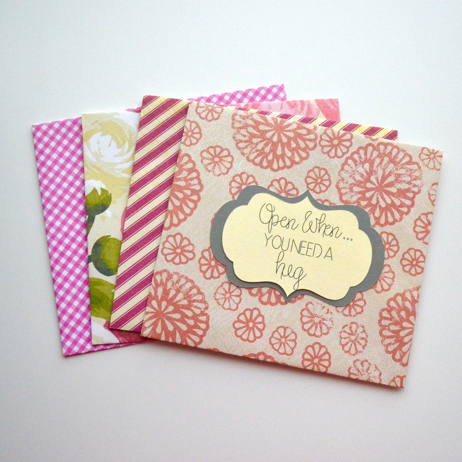pink handmade personalized open when envelopes letters choose