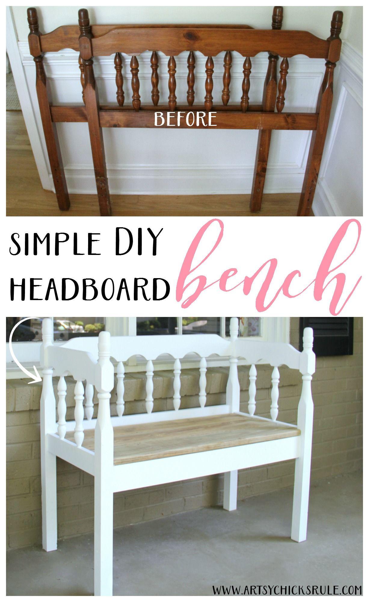 Headboard To Bench Diy Headboard Bench Headboard Benches Diy Headboards And Easy
