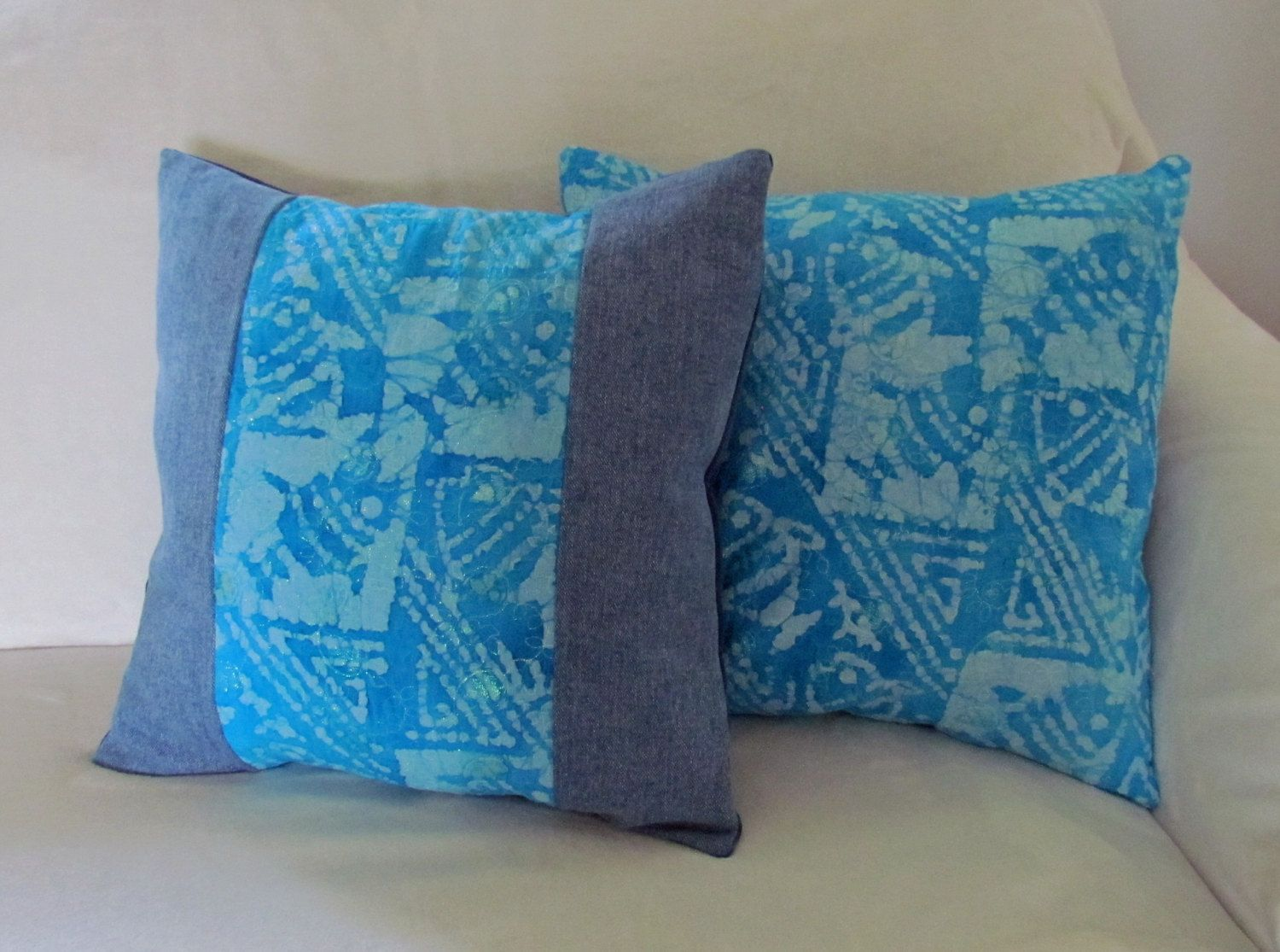 Blue Cushion Cover, Decorative Pillow Cover, Throw Pillows, Accent ...