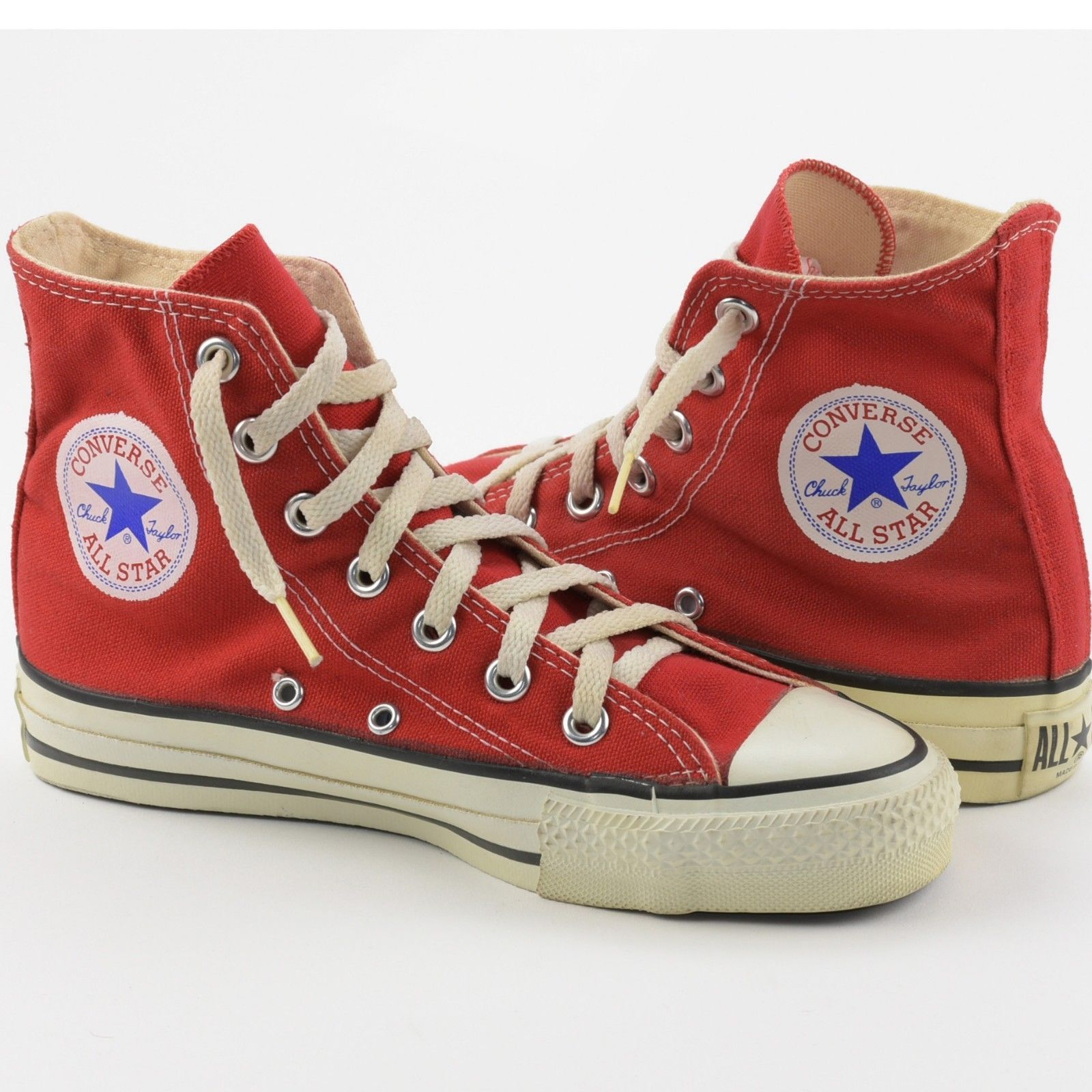 f674a67febfe Vintage Red Made USA Converse Chuck Taylor All-Stars High Shoe Men 4.5  Women 6