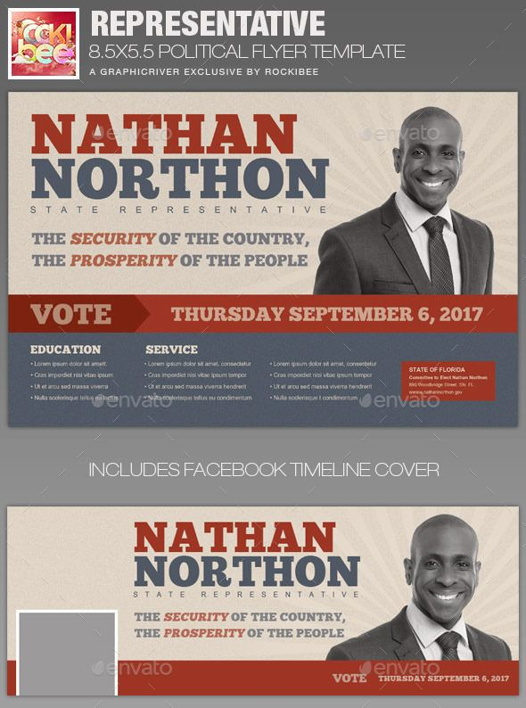 Representative Political Flyer Template – Political Flyer Template