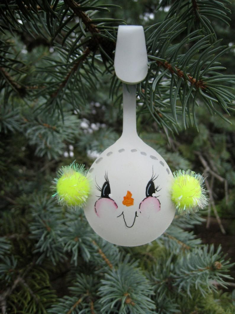 Snowman Spoon Hand Painted Bright Yellow Ear Muffs Yewtinsel Christmas Spoon Snowlady Christmas Spoons Xmas Crafts Indoor Christmas Decorations