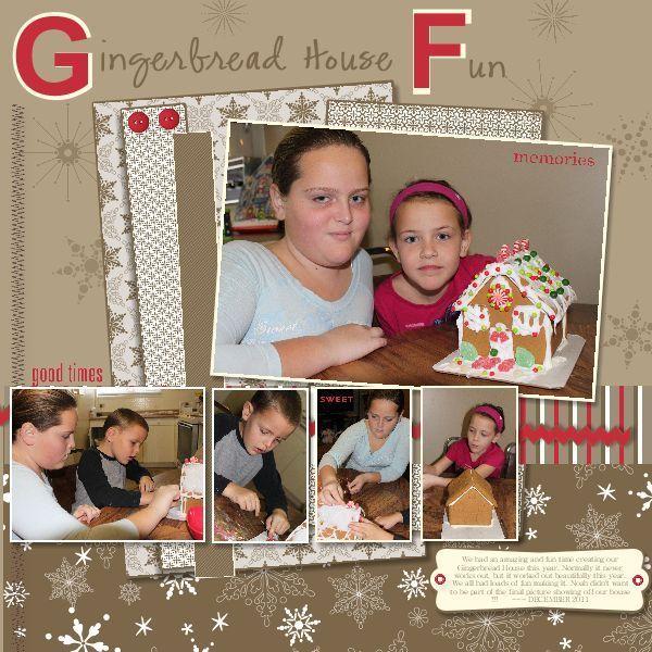 Gingerbread house fun 2011