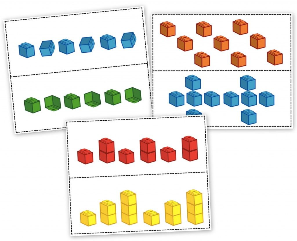 Unifix Cubes Print Play Patterning Learning Centers
