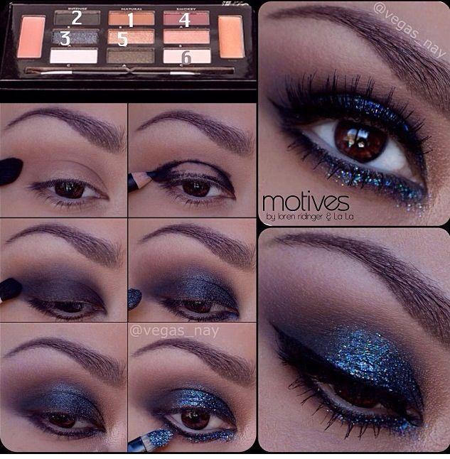 Make up ejes blues