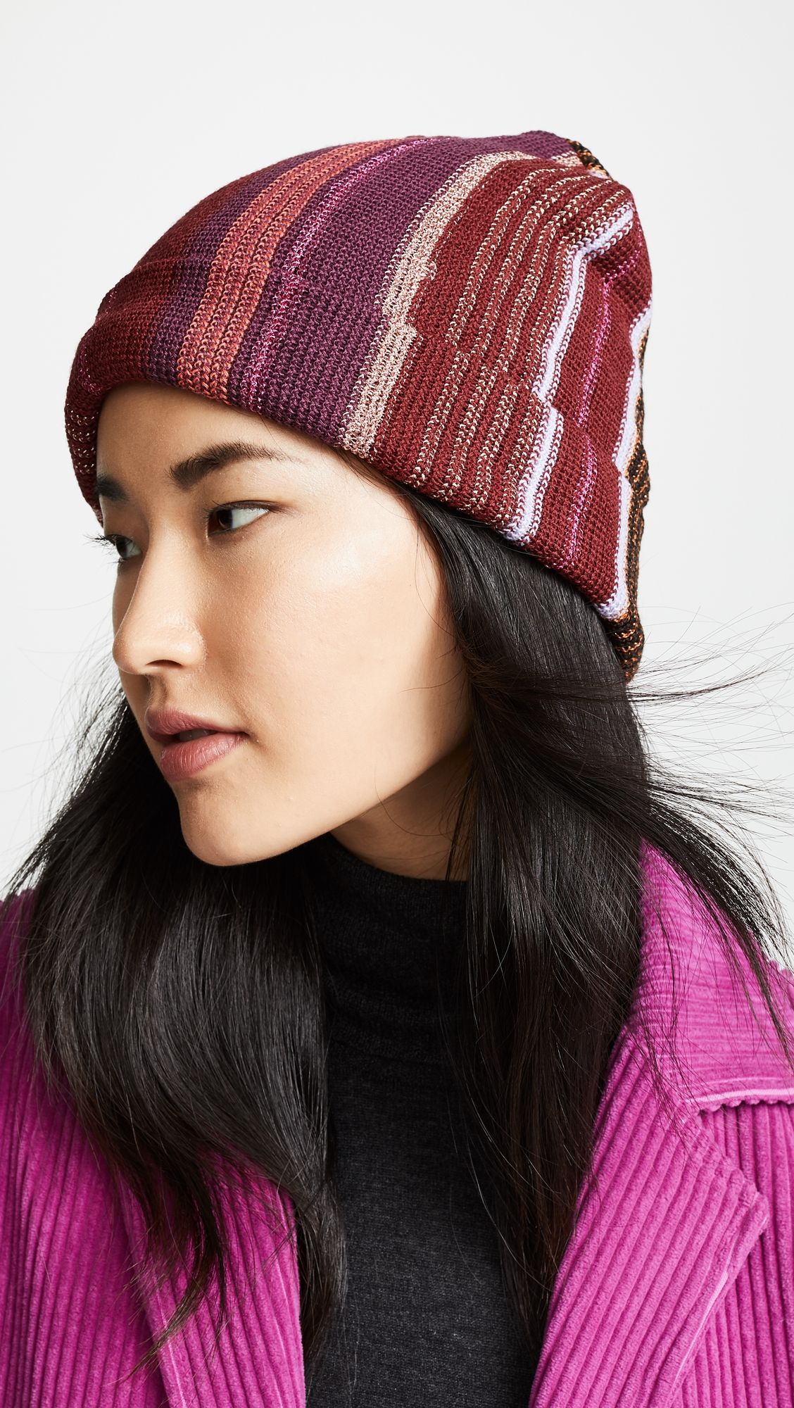 424e5638dff80f Narrow Striped Hat | Products | Hats, Knitted hats, Missoni