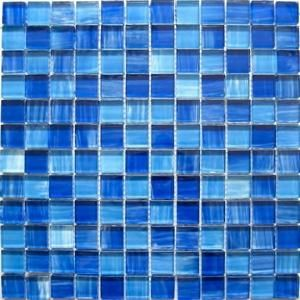 Hot Item Blue Crystal Glass Mosaic Tiles Mosaic Tiles Mosaic Glass Glass Mosaic Tiles