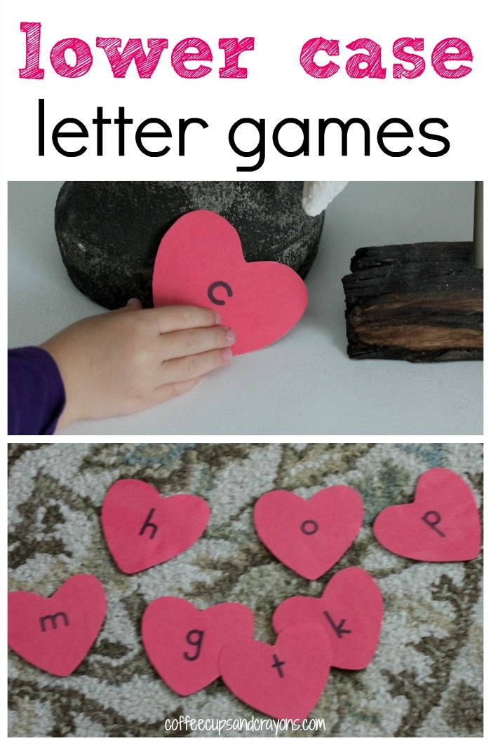 Playing games with letters makes practicing so much more fun--especially when kids get a chance to move and learn at the same time! That's why we love these lower case letter games so much.