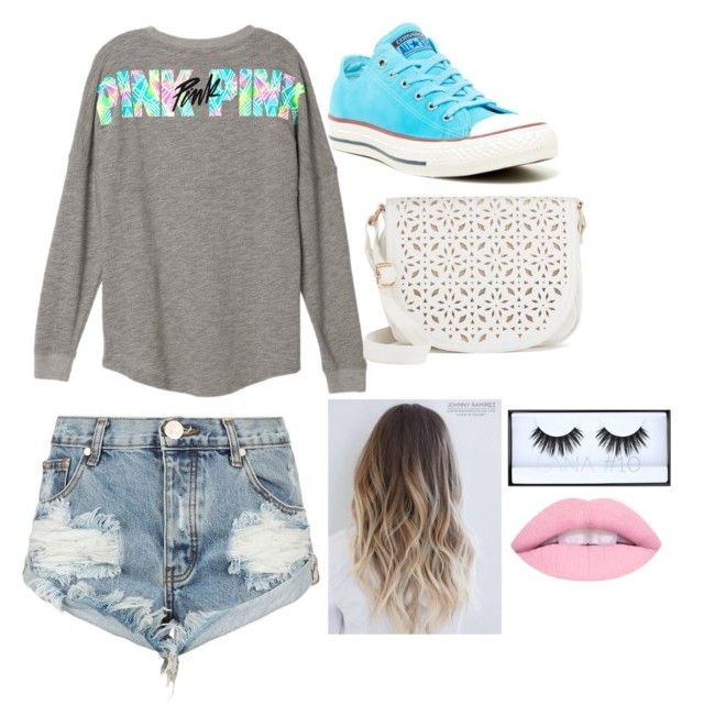 """Casual #1"" by tayjayne8 on Polyvore featuring One Teaspoon, Converse, Under One Sky and Huda Beauty"