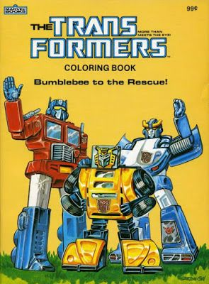 Transformers coloring book cover