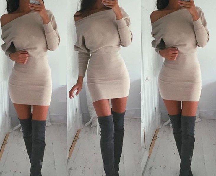 Vestido sexy invierno